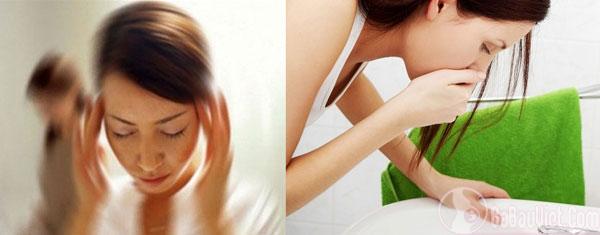Dấu hiệu chóng mặt, buồn nôn khi mang thai