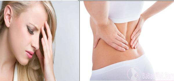 Dấu hiệu mang thai: Mệt mỏi, đau đầu, đau lưng