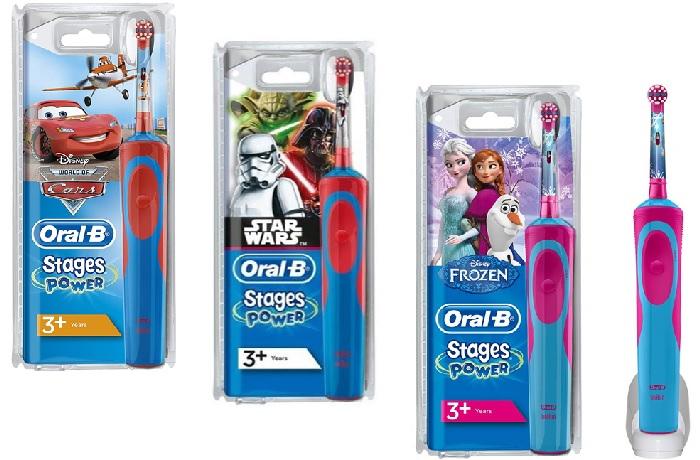 Bàn chải đánh răng điện cho bé Oral B Stages Power Kids với 23 nhân vật Disney