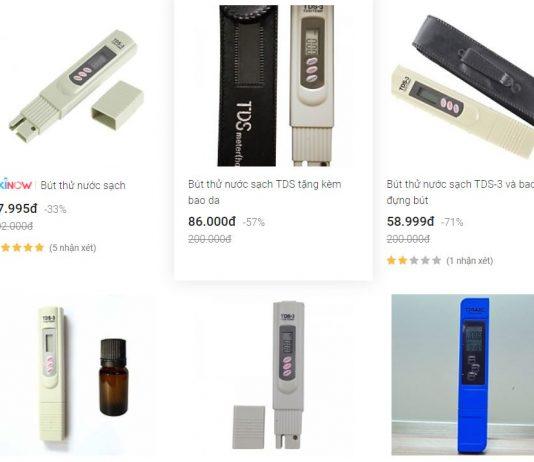 Bút thử nước sạch (bút thử chất lượng nước) có chính xác không, chỉ số TDS là gì, loại nào đo tốt nhất, các loại phổ biến xiaomi, fusaka, Nhật bản...