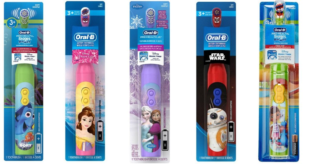oral b prohealth stages toothbrushes