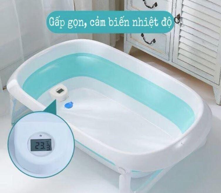 chậu tắm có báo nhiệt độ