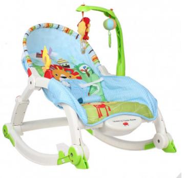 Ghế được thiết kế khung đồ chơi thông minh giúp kích thích giác quan sớm cho trẻ.
