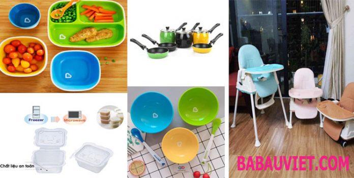 Kinh nghiệm chọn mua đồ dùng, dụng cụ ăm dặm cho bé, những thứ cần thiết nhất để chế biến đồ ăn dặm cho trẻ. Ghế, khay đựng, bát đũa, thìa, thớt..nào tốt?