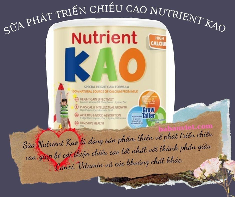 sua phat trien chieu cao Nutrient kao